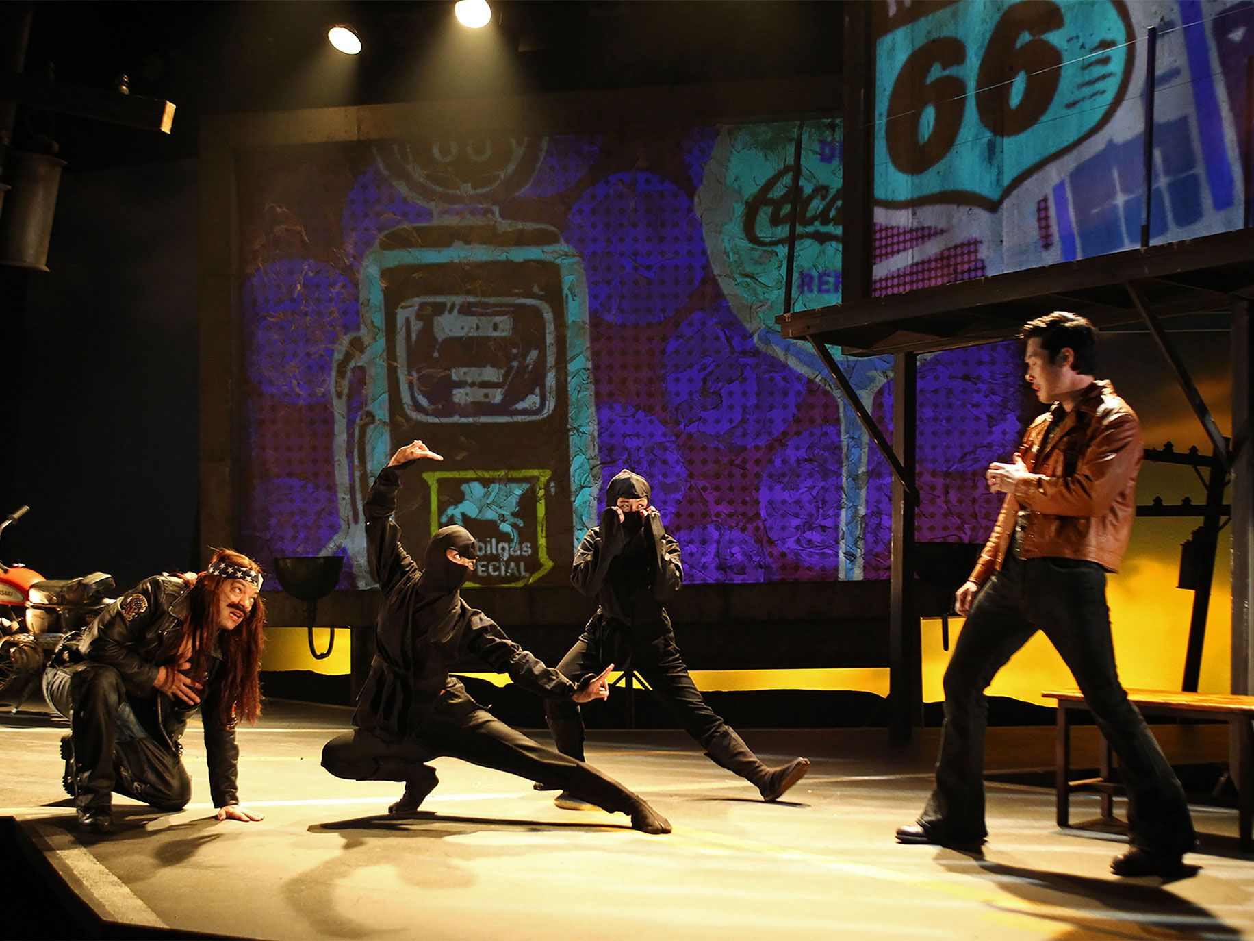 Paco Tolson, Maureen Sebastian, Samantha Quan, and Raymond Lee in South Coast Repertory's 2015 world premiere of Vietgone