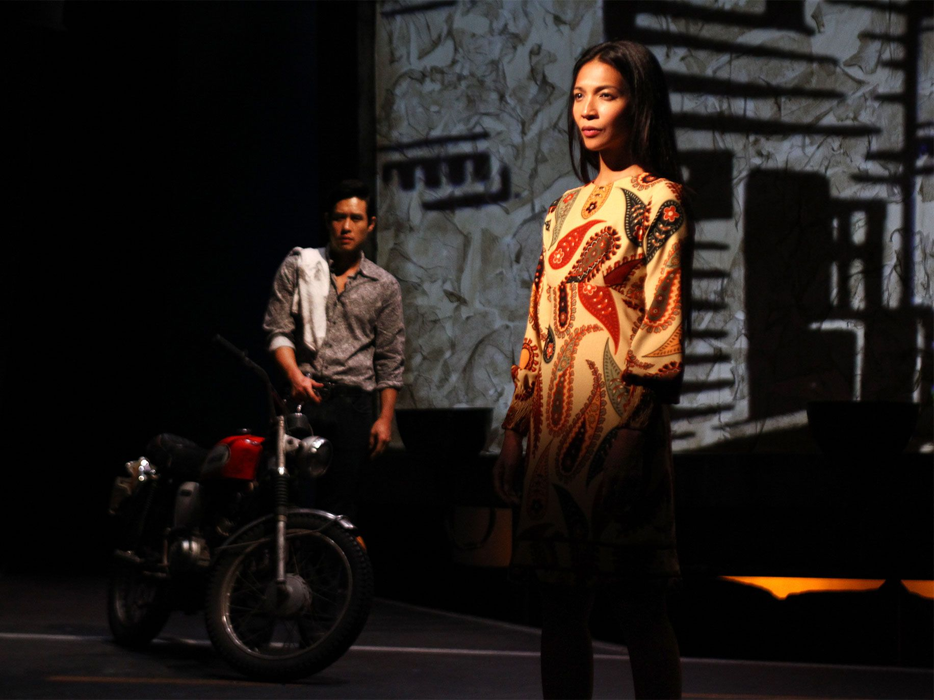 Raymond Lee (left) and Maureen Sebastian in Vietgone.