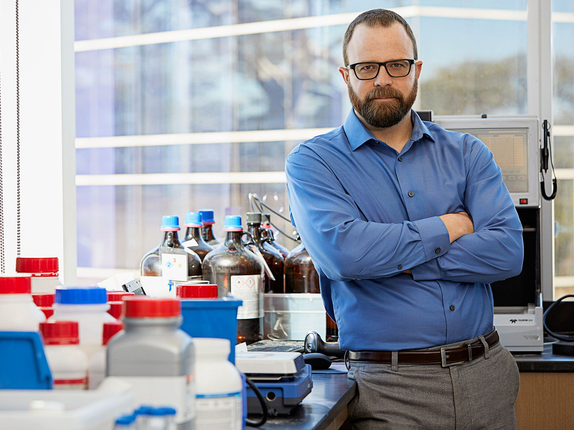 Travis Young, Calibr's director of protein sciences, is working to engineer cells with different potencies that could be used to kill cancerous tumors.
