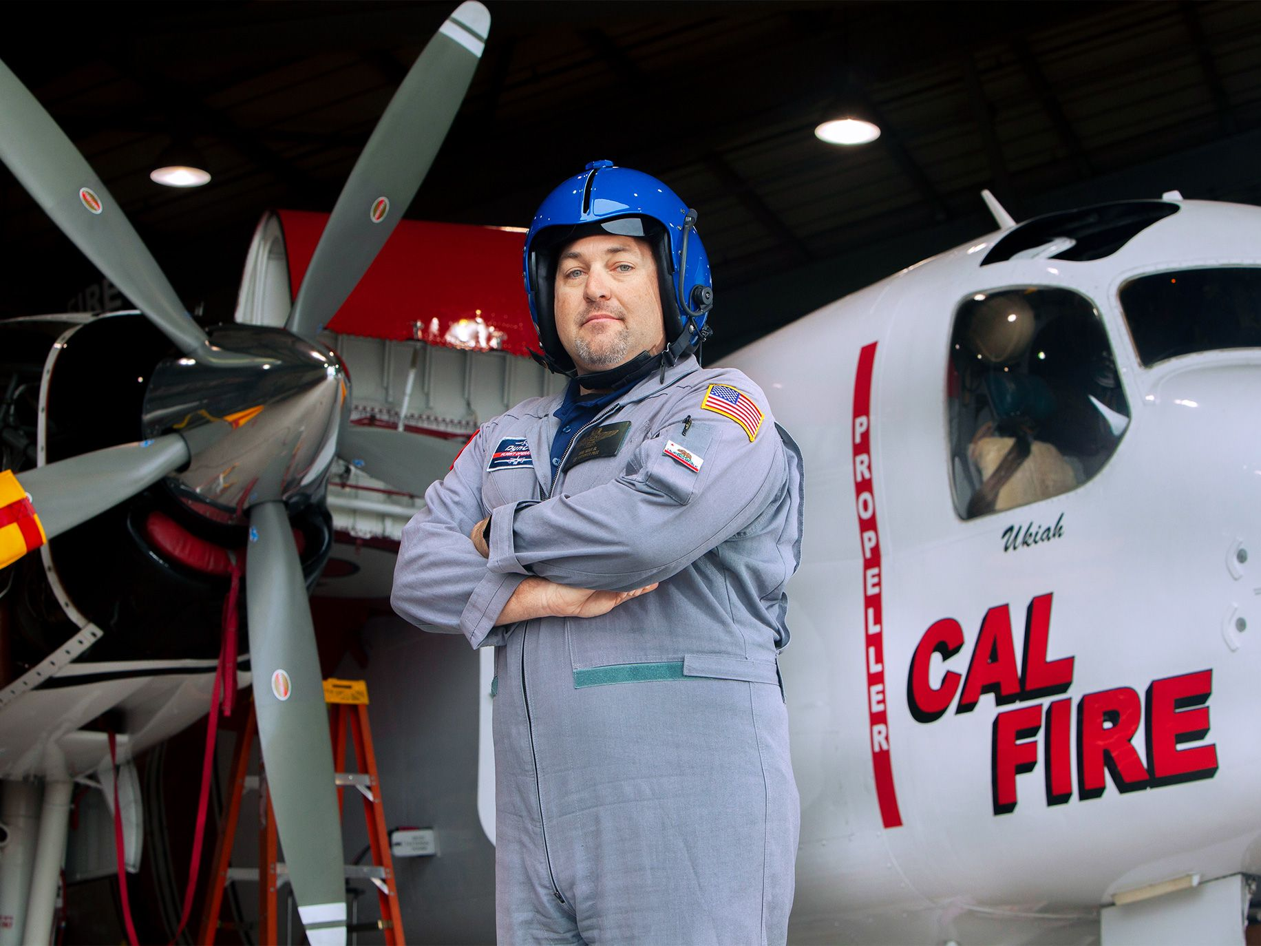 Cal Fire air tanker pilot David Kelly at McClellan Airfield.
