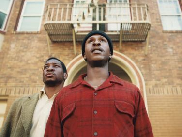 In The Last Black Man in San Francisco, Montgomery (Jonathan Majors, left) and Jimmie (Jimmie Fails) are best friends who squat in Jimmie's former family home and set out to restore it to grandeur.