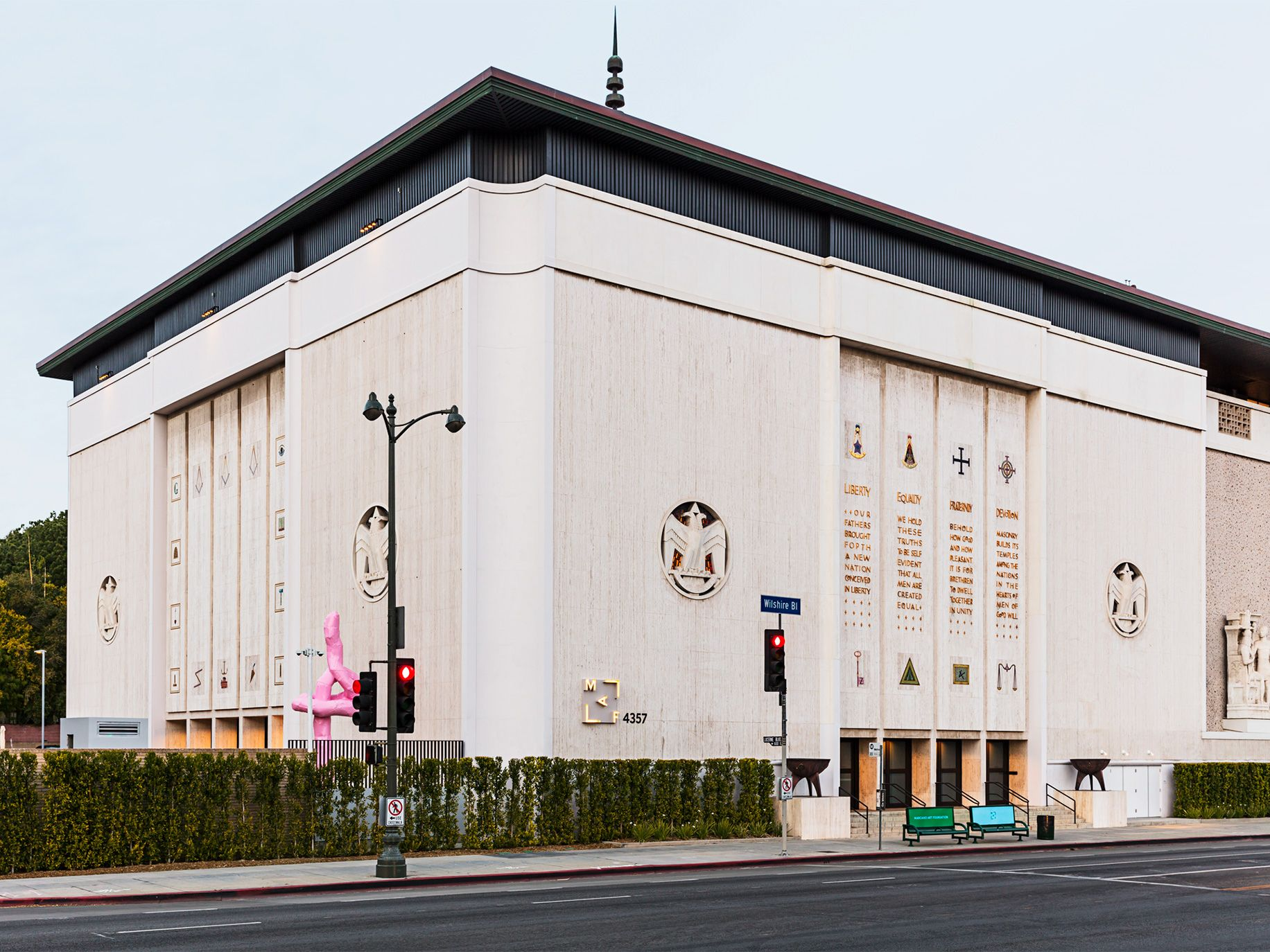 The Marciano Art Foundation transformed a former Scottish Rite Masonic Temple on L.A.'s busy Wilshire Boulevard into a cutting-edge museum.