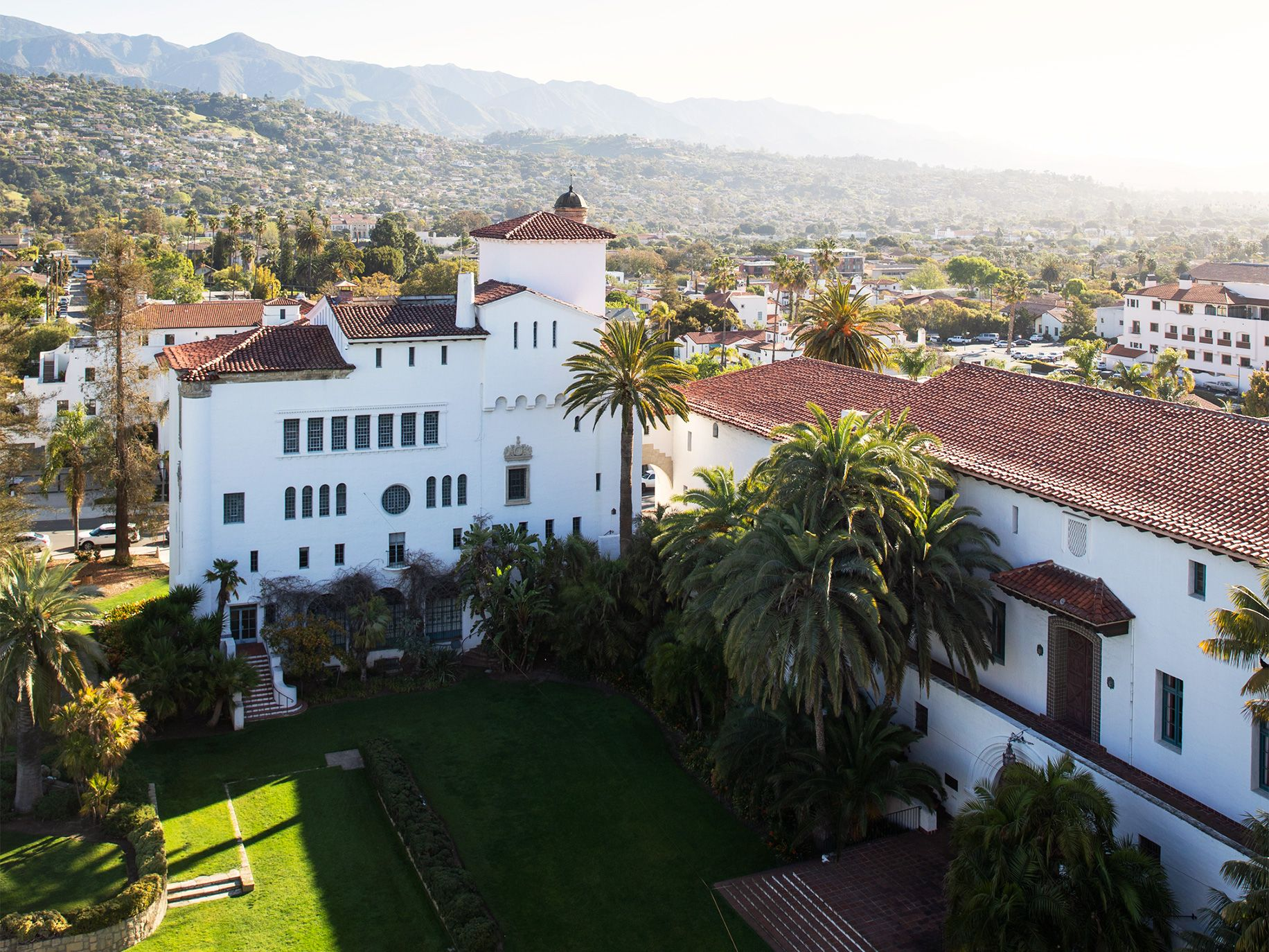 Much of Santa Barbara's architecture honors its Spanish colonial past.