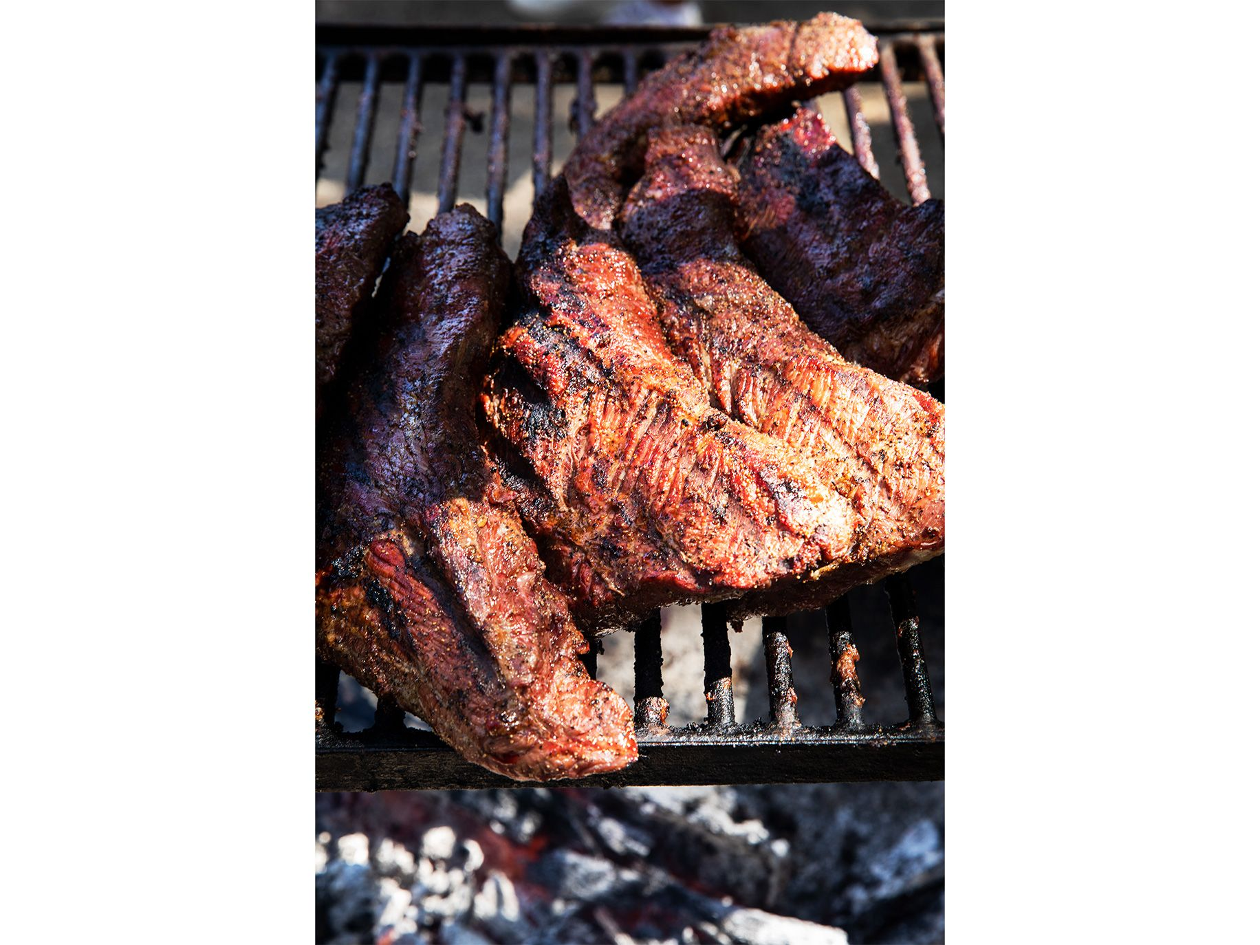 Tri-tip for Santa Maria barbecue sandwiches is grilled outdoors on weekends.