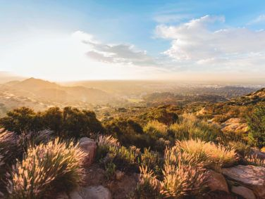 Sunrise view at Santa Susana Pass State Historic Park, a crucial wildlife habitat in the west San Fernando Valley.