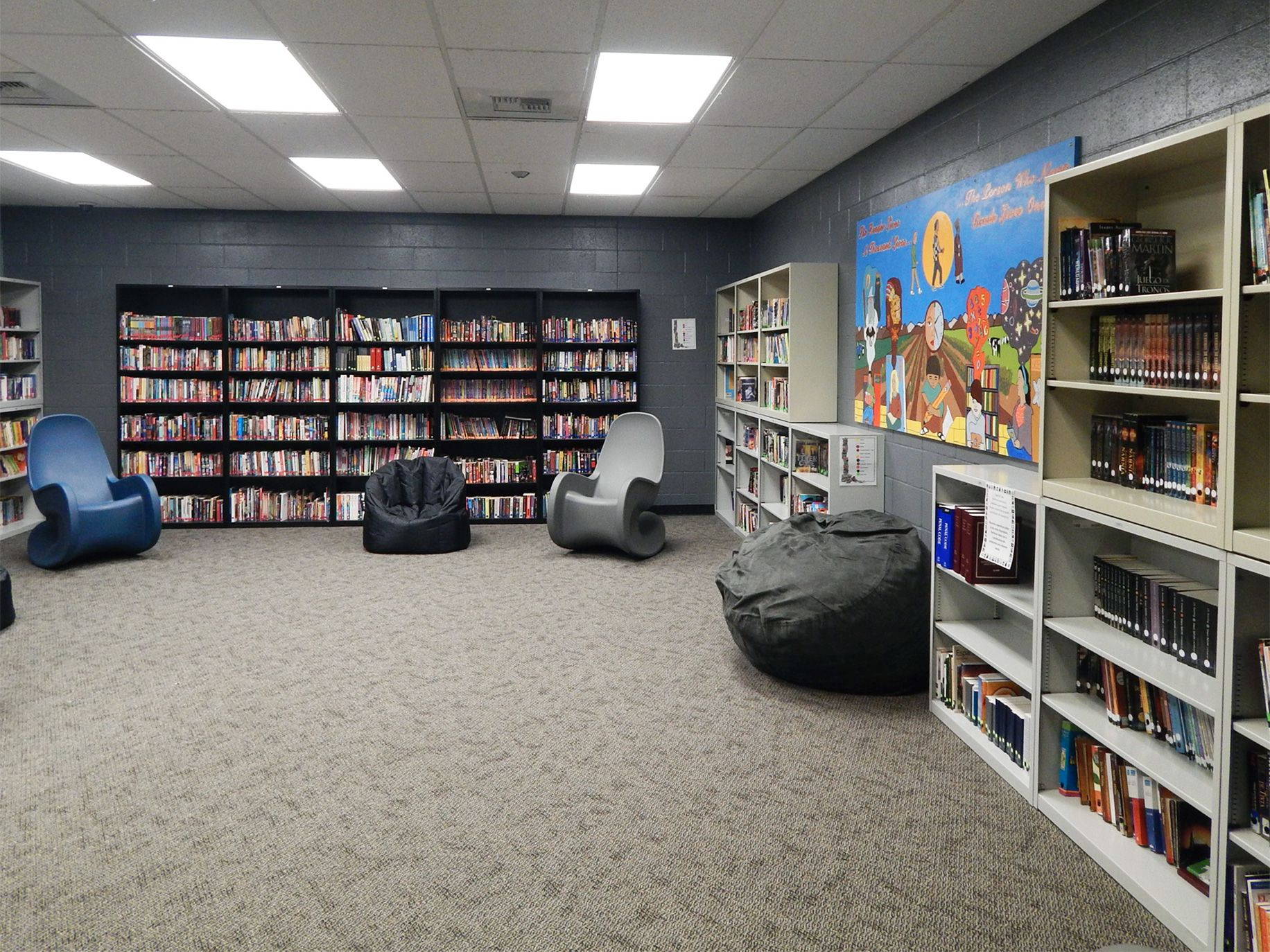 A library for minors held at the Yolo County Juvenile Detention Facility.