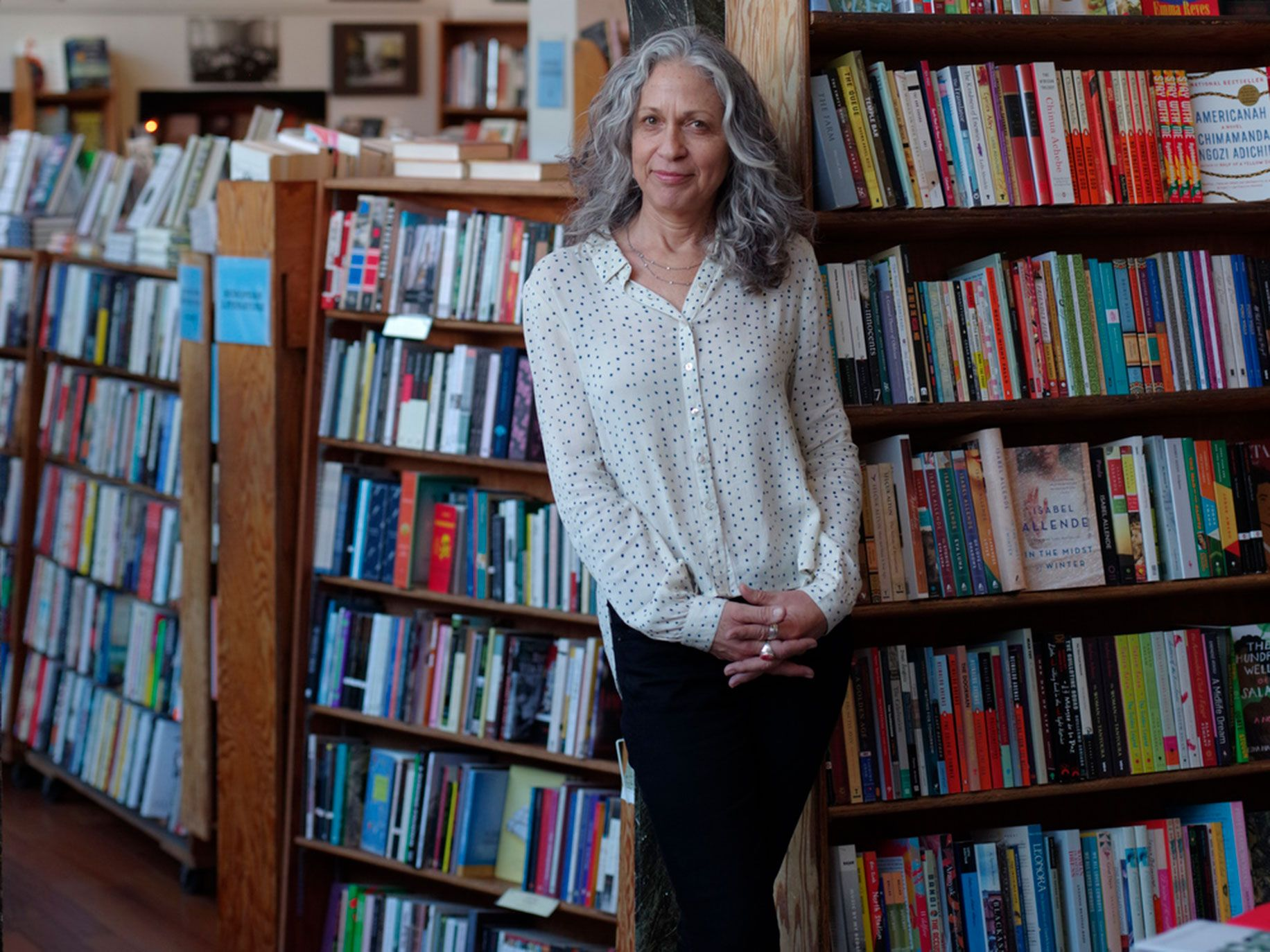 City Lights publisher and executive director Elaine Katzenberger believes there is still a vibrant underground culture in San Francisco, even if many of the city's writers are moving to the East Bay.