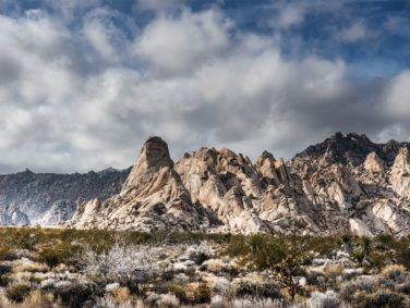 A view of the Providence Mountains from the desert floor in the Mojave National Preserve.