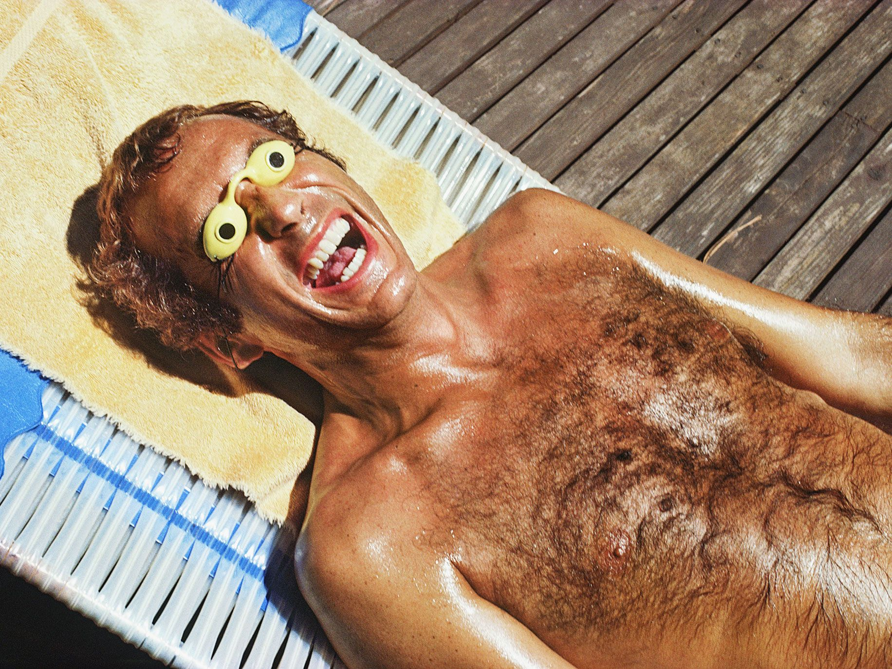 Richie Silverman, extreme tanner, West Hollywood, California, January 1979. The photograph is from Roger Steffens's The Family Acid: California, which looks back at the Golden State from 1968 to 2015.
