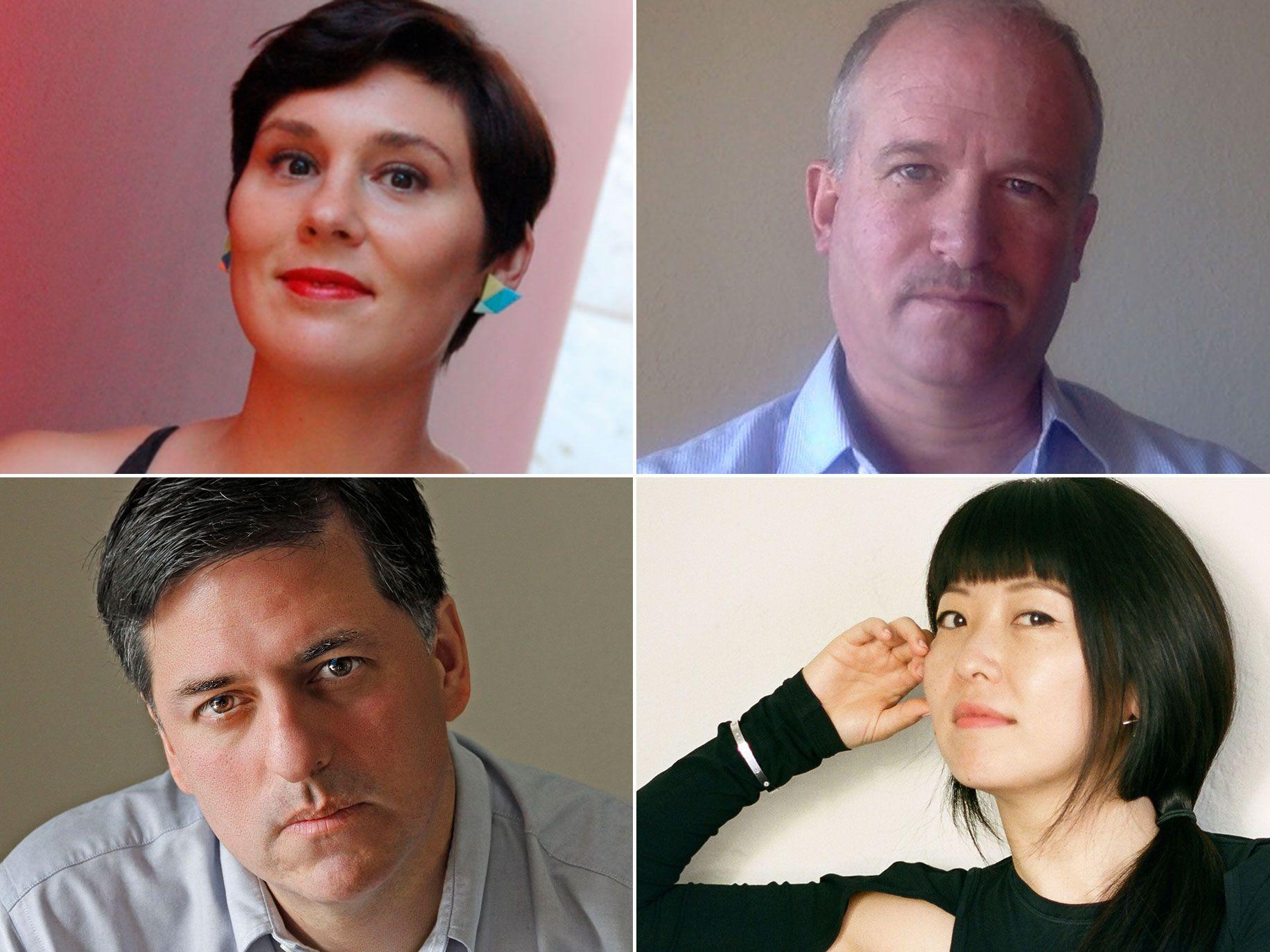 Clockwise from top left: Liska Jacobs, Jon Roemer, Xuan Juliana Wang, and Sergio Troncoso