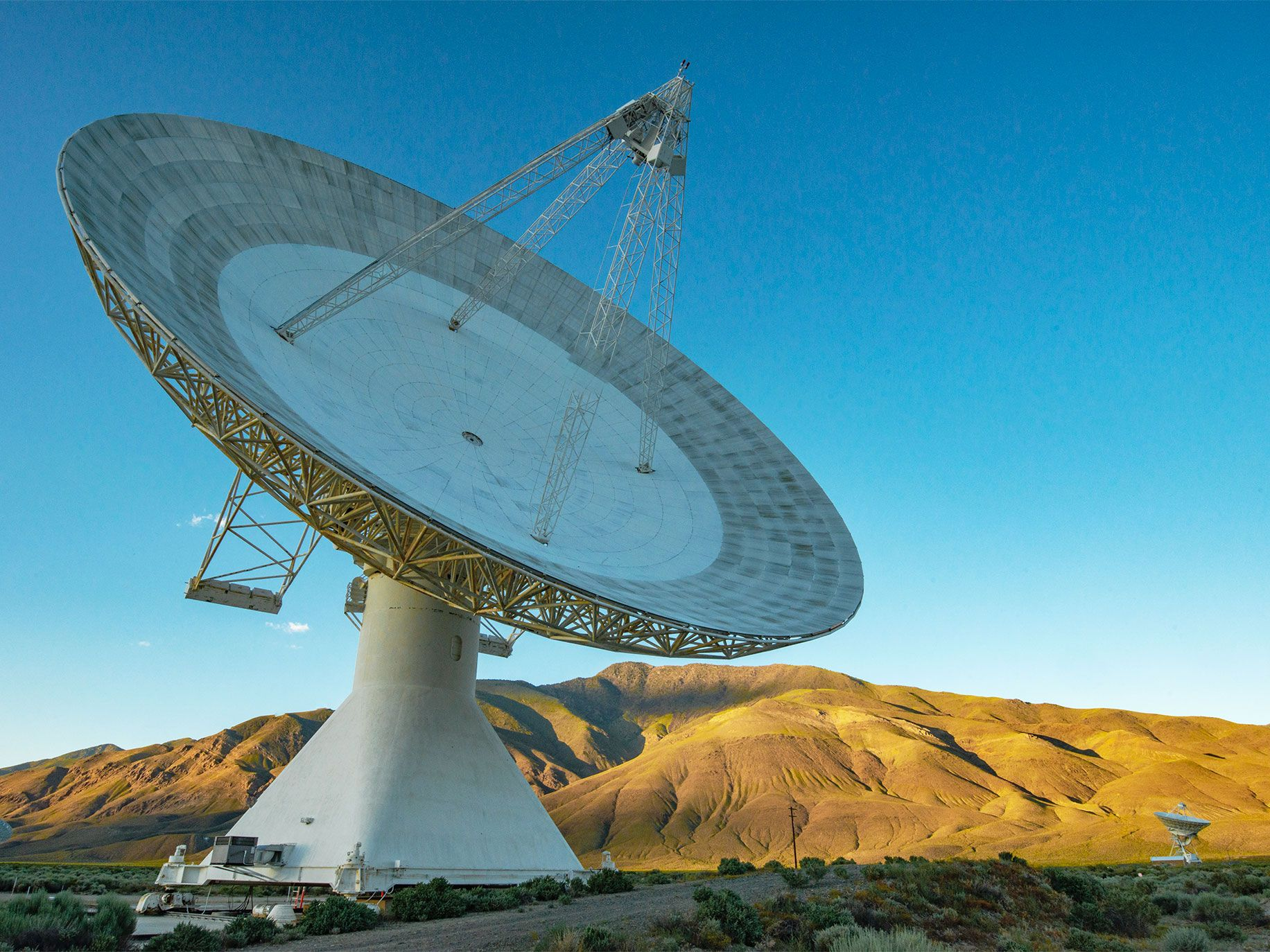 "Known as the 40 Meter for the breadth of its diameter, this radio telescope is ""so powerful that it could pick up a cell phone on Pluto,"" says Mark Hodges, an OVRO design engineer."