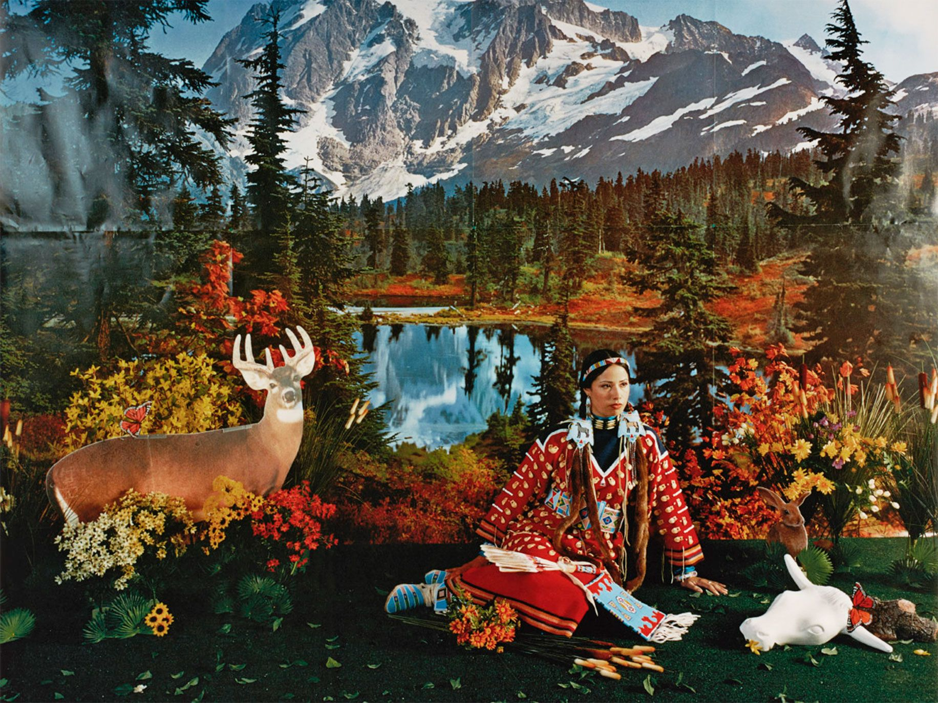 Wendy Red Star, Indian Summer, 2006, is one of the photos on exhibit at the Portland Art Museum's Toughened to Wind and Sun.