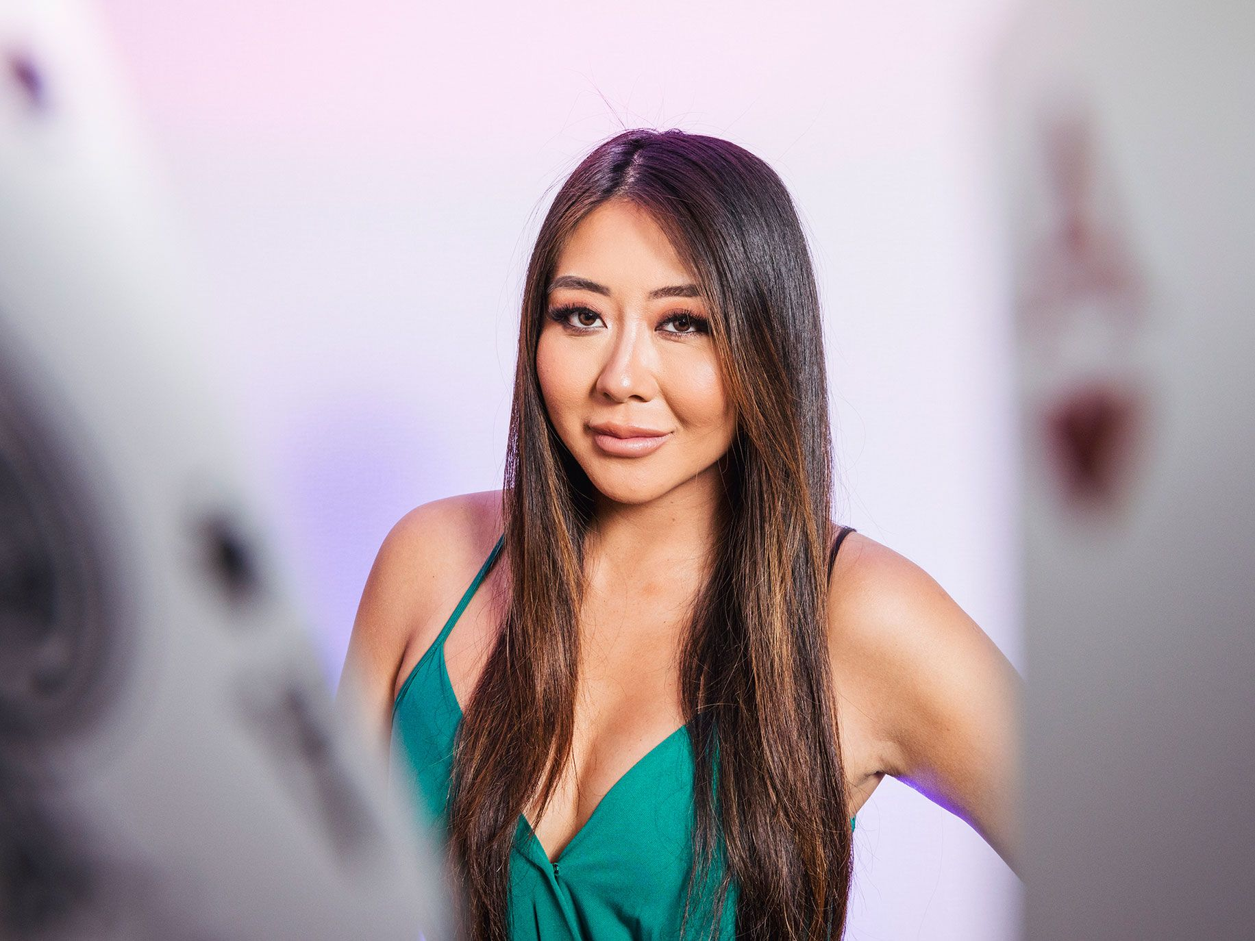 Maria Ho, seen here posing on a red carpet, has parlayed her poker stardom into a role as a poker tournament commentator on ESPN.