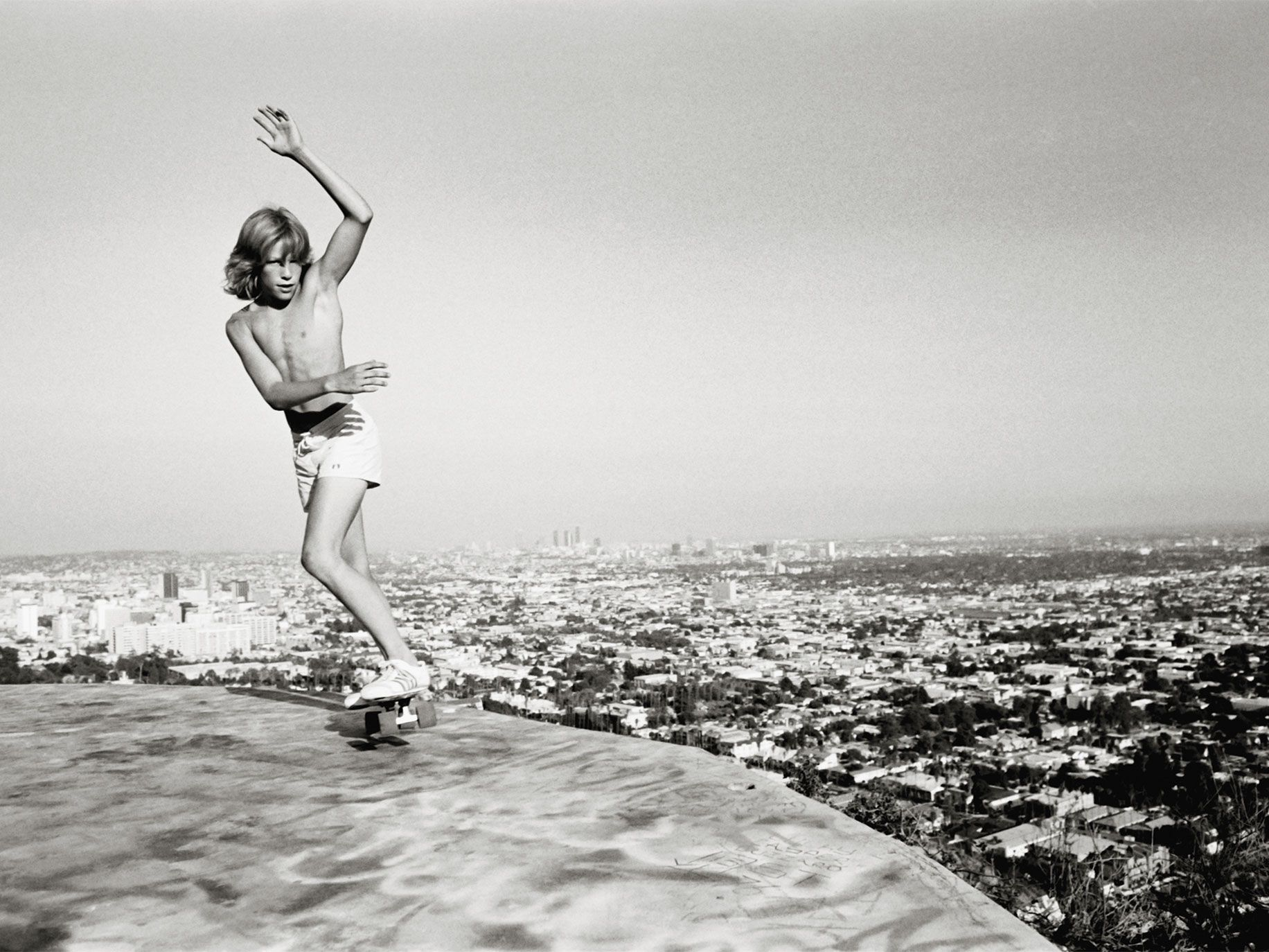 The Top of LA, Hollywood Hills, 1976, from Silver. Skate. 70s.