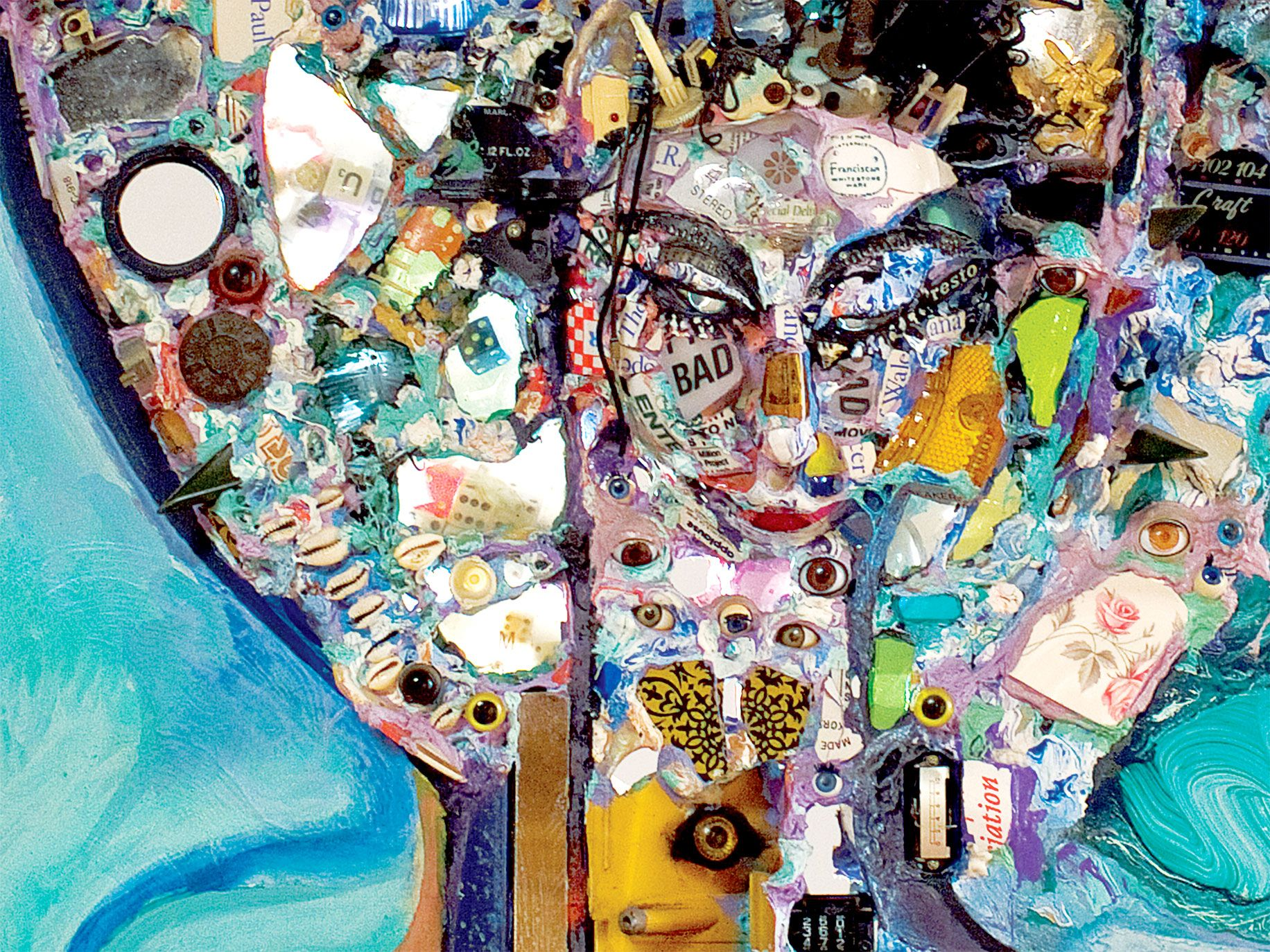 Assemblage artist Timothy Washington is a contemporary of David Hammons and Betye Saar. He combines sculpture, painting, and drawing to create striking abstractions of human figures.