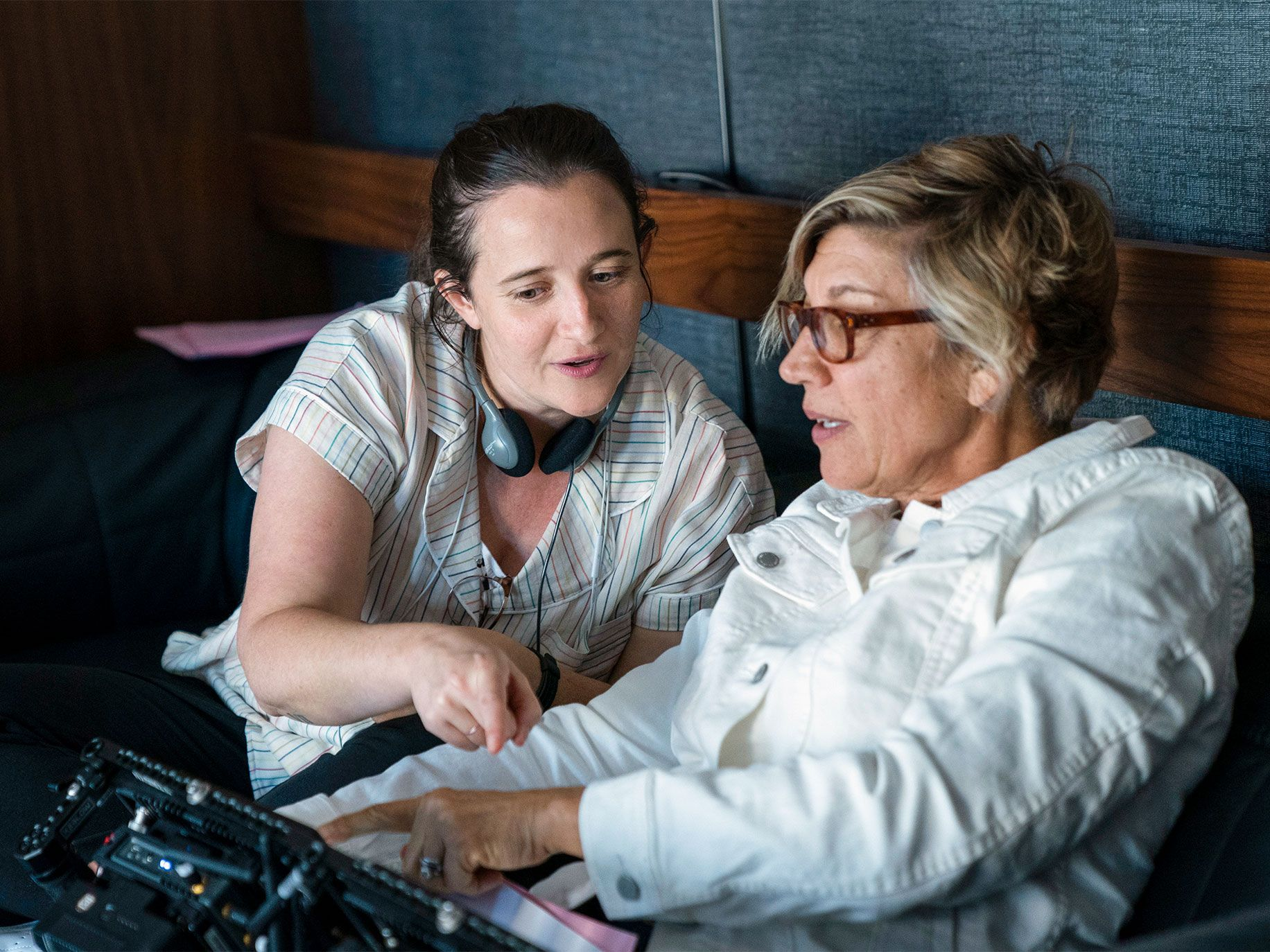 Showrunner Marja Lewis-Ryan (left) on set. Lewis-Ryan has hired two Latina writers for the show.