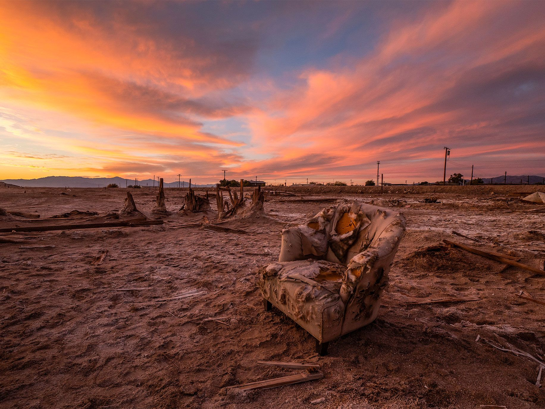 Bombay Beach, devastated by two hurricanes that raised the level of the Salton Sea during the 1970s, has become a popular, if unlikely, destination for art tourism.