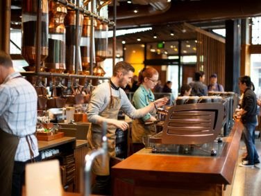 The Starbucks Reserve Roastery aims to be a shrine for coffee lovers.
