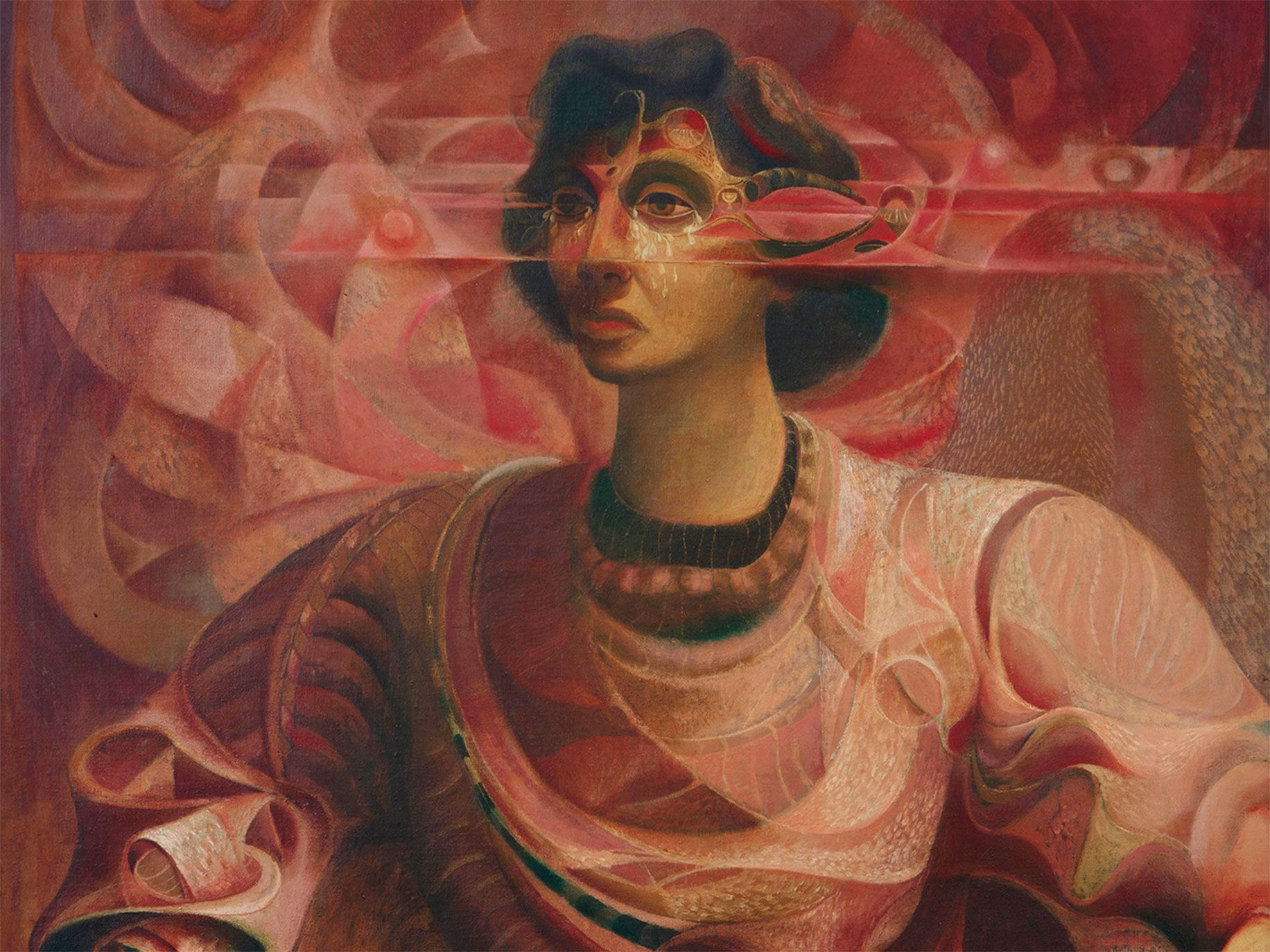 Detail of painter Leo Kenney's The Priestess.