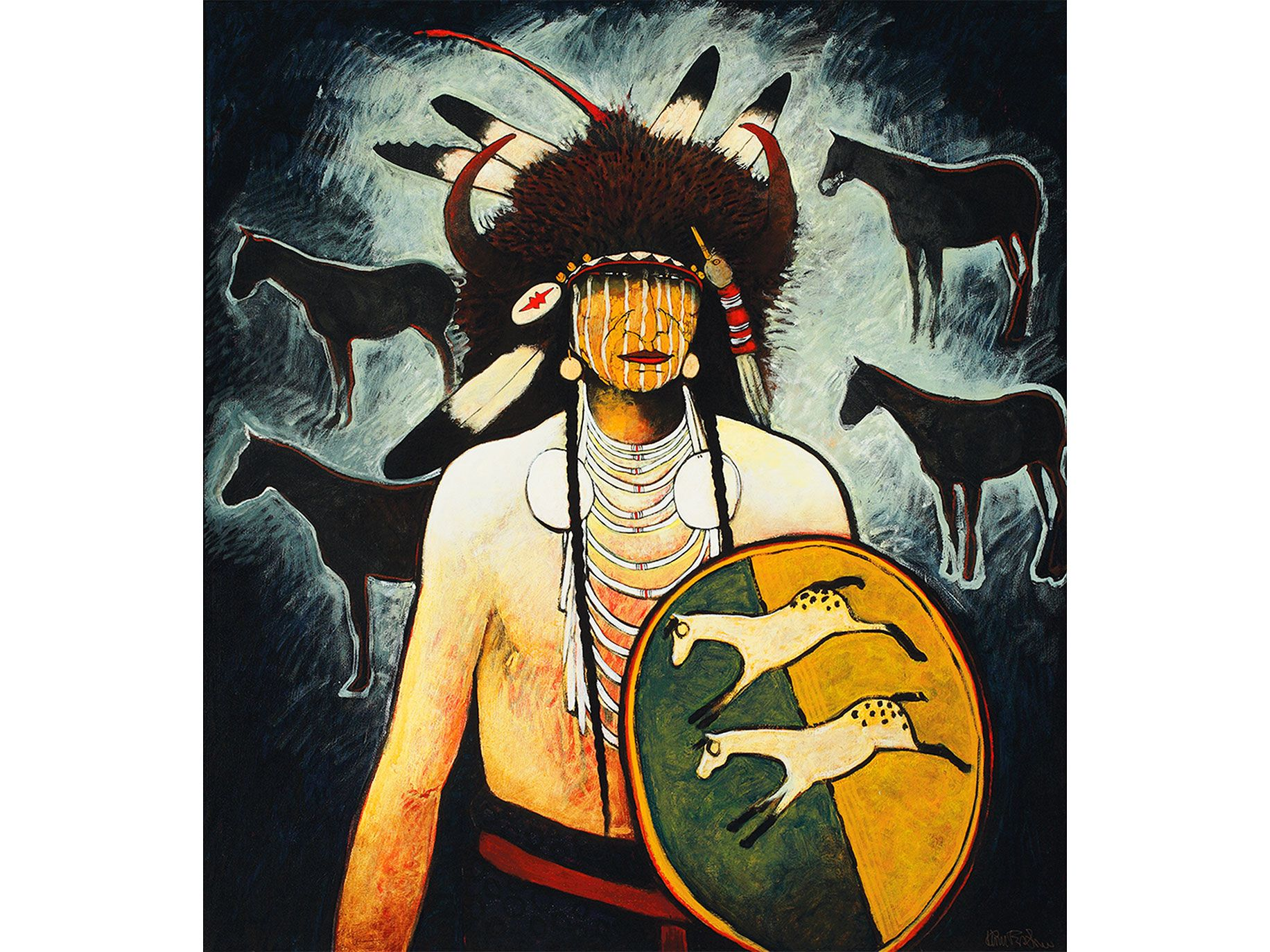 Crow Indian artist Kevin Red Star's Buffalo Horse Medicine.