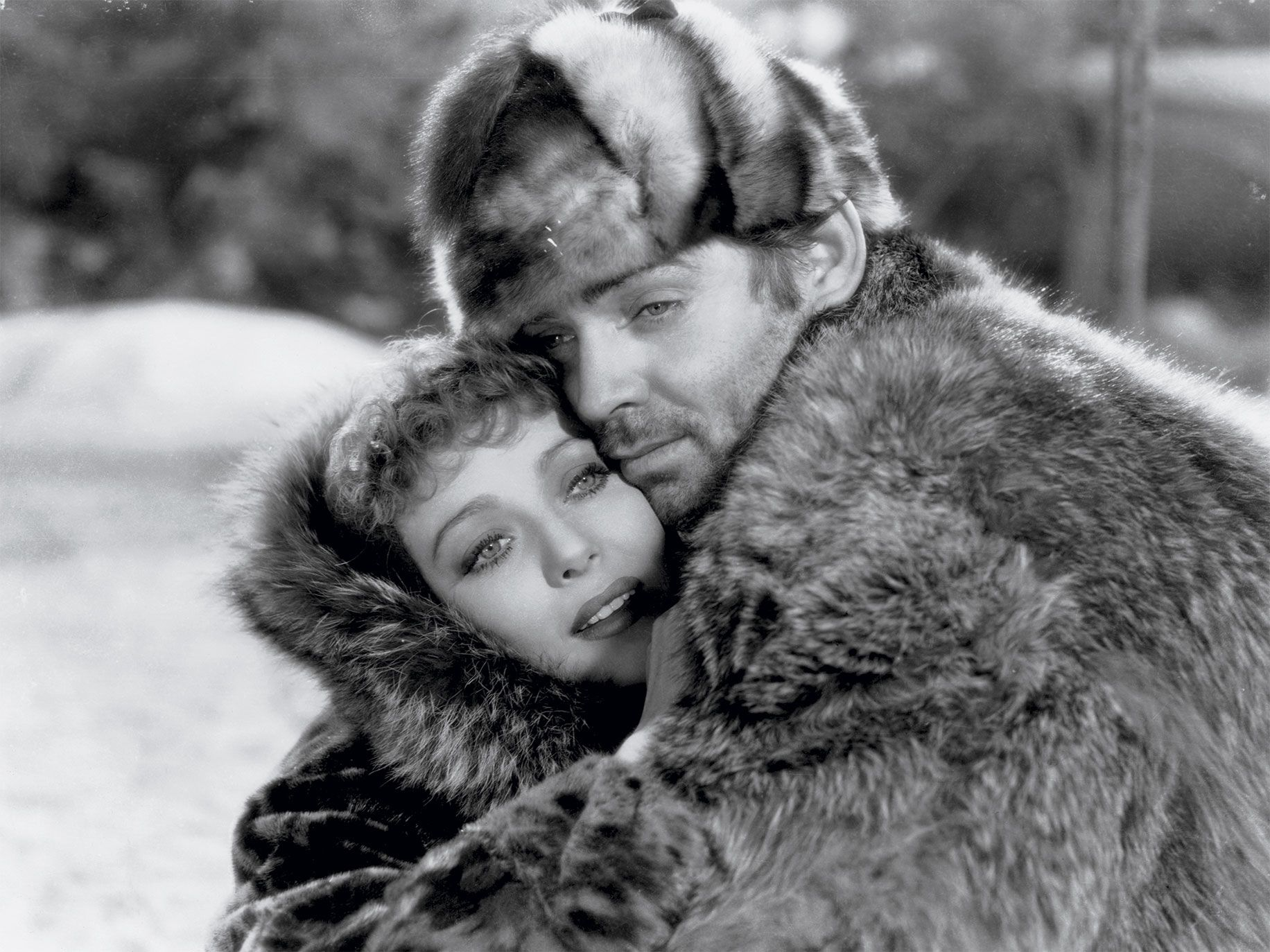 Loretta Young and Clark Gable in 1935's Call of the Wild.