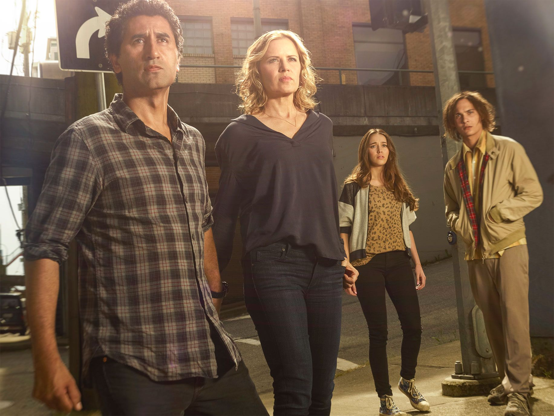 Cast members from the AMC series Fear the Walking Dead.