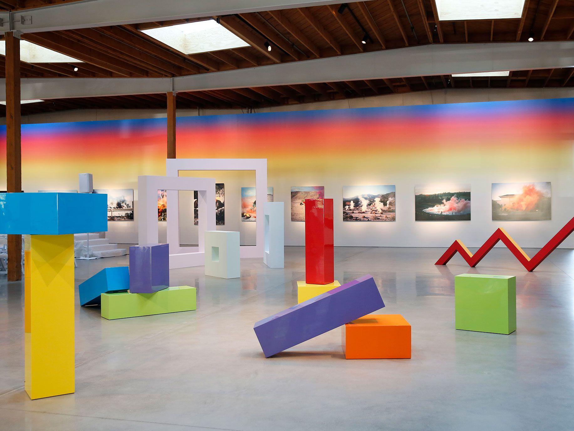 Big artwork from even bigger names graces the walls of the Jeffrey Deitch gallery in Los Angeles.