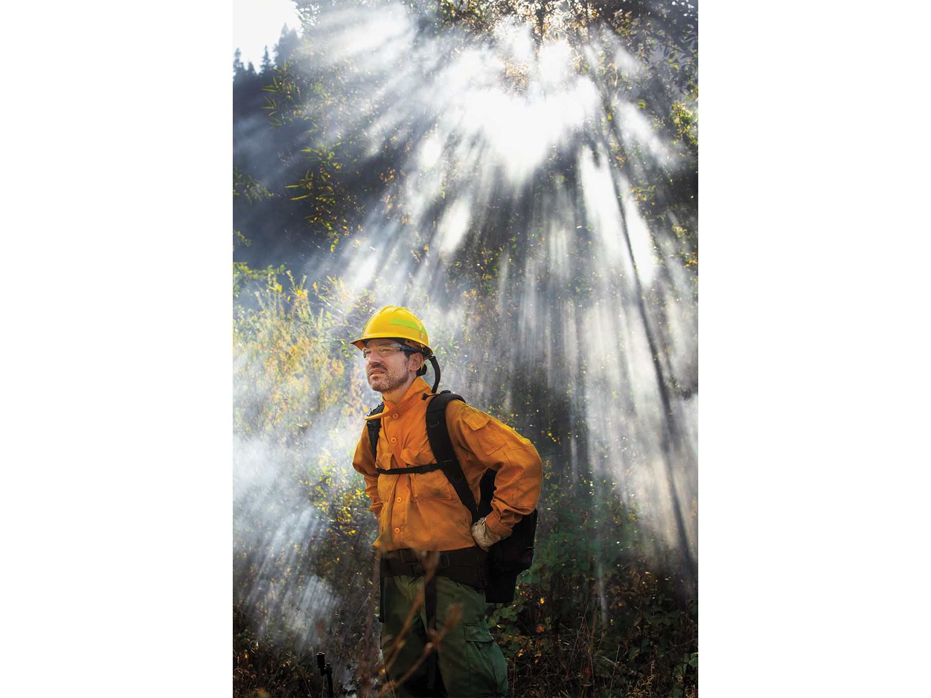 Park ranger Alberto Sarta came from Aragon, Spain, to join a TREX burn and to learn how the forest management techniques of California's indigenous people can help prevent destructive wildfires.