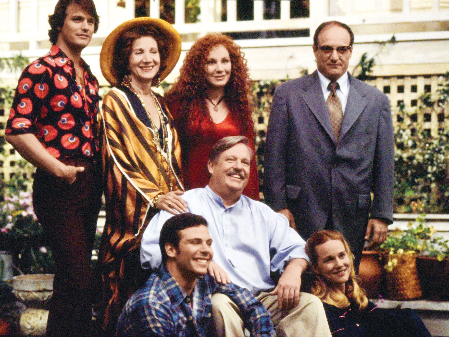 Maupin (center) with the cast of the original Tales of the City miniseries, which aired in 1994 on PBS.