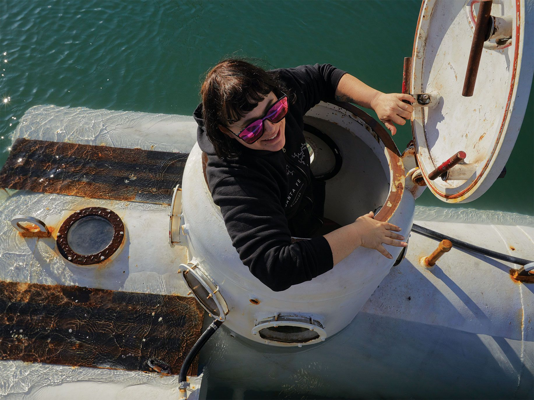 Shanee Stopnitzky, founder of the Community Submersibles Project, hopes to raise awareness of the oceans.