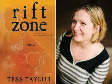 Author Tess Taylor and her new book Rift Zone.