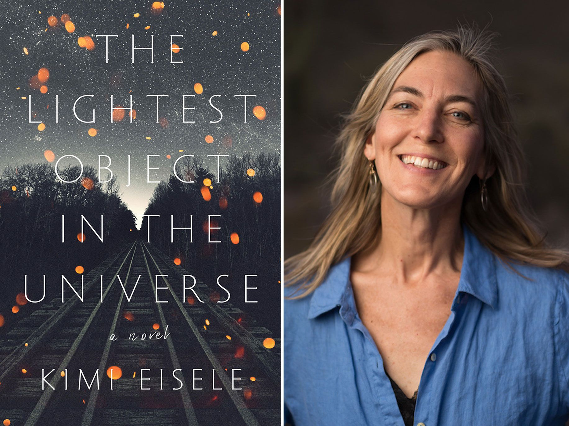 """In a surprising coincidence, the cover image for """"The Lightest Object in the Universe"""" looked eerily like a piece of artwork Kimi Eisele had made for her book — and never showed anyone."""