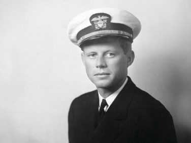 John F. Kennedy, as a navy lieutenant junior grade, during the time of his romance with Inga Arvad, circa 1942.
