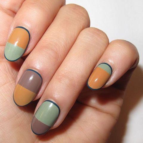 Blue, Green, Finger, Skin, Yellow, Nail, Liquid, Nail care, Nail polish, Teal,