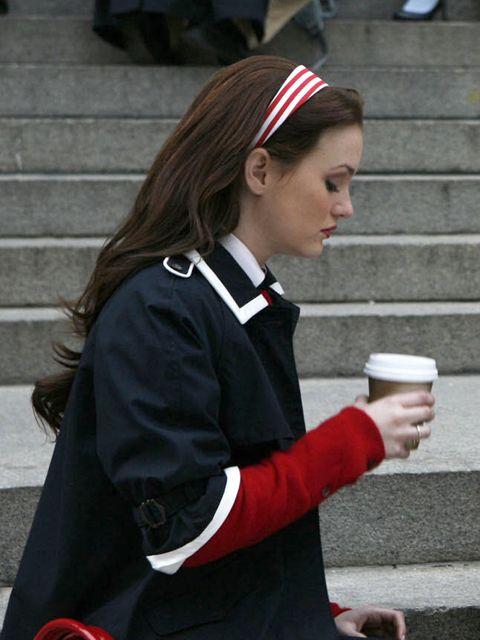 Uniform, Outerwear, Street fashion, Long hair, School uniform, Headgear, Brown hair, Formal wear, Costume,