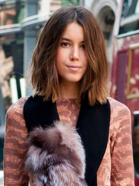 Hair, Fur, Fur clothing, Hairstyle, Street fashion, Brown hair, Beauty, Layered hair, Long hair, Hair coloring,