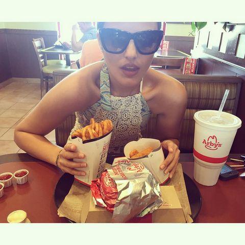 Eyewear, Junk food, Food, Glasses, Cool, Drink, Sunglasses, Eating, Milkshake, Vacation,