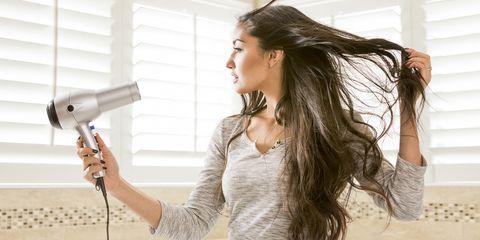 Hair dryer, Hair, Hair iron, Skin, Beauty, Hairstyle, Long hair, Home appliance, Hair coloring, Brown hair,