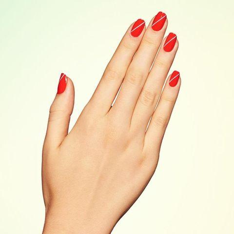 Finger, Skin, Red, Nail care, Nail, Nail polish, Toe, Carmine, Foot, Manicure,