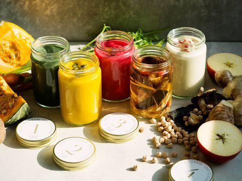 Ingredient, Food, Tableware, Dishware, Serveware, Meal, Produce, Mason jar, Breakfast, Cuisine,