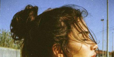 Hair, Hairstyle, Neck, Cool, Chin, Shoulder, Photography, Ear, Long hair, Black hair,