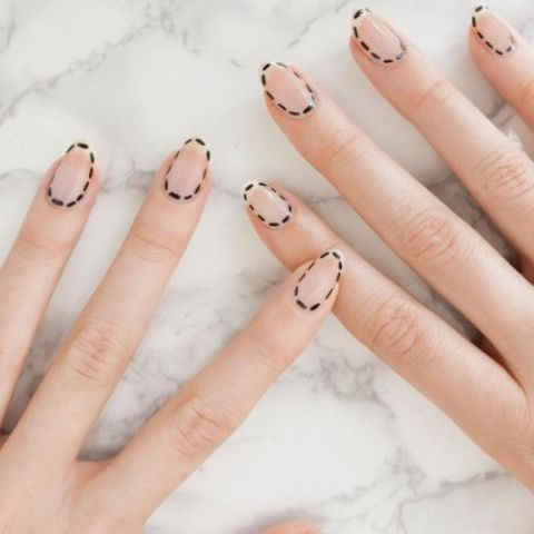Finger, Skin, Nail, White, Nail care, Beige, Nail polish, Silver, Close-up, Manicure,