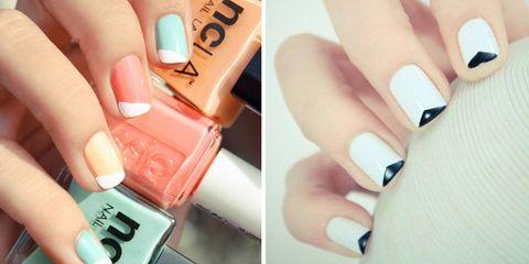 Finger, Blue, Skin, Nail, Nail care, Nail polish, Manicure, Teal, Material property, Thumb,