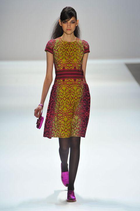 Clothing, Dress, Shoulder, Human leg, Joint, Magenta, One-piece garment, Pink, Style, Fashion model,