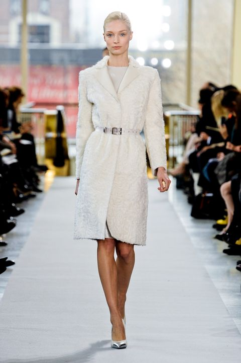 Clothing, Footwear, Fashion show, Shoulder, Runway, Joint, Outerwear, Fashion model, Style, Dress,