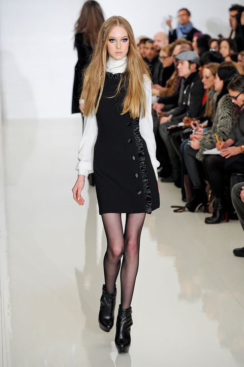 Clothing, Footwear, Human, Leg, Fashion show, Shoulder, Joint, Human leg, Outerwear, Dress,