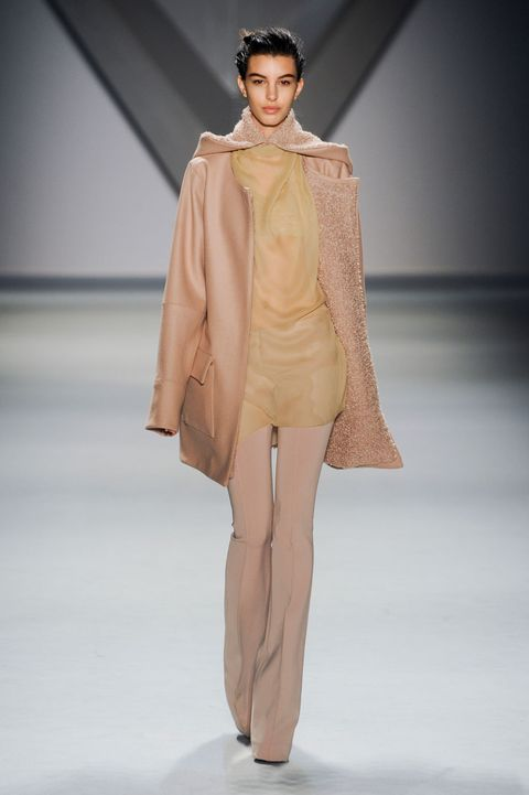 Clothing, Fashion show, Skin, Human body, Shoulder, Runway, Joint, Outerwear, Fashion model, Style,