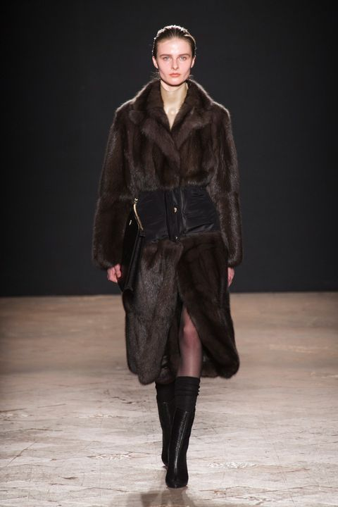 Human body, Textile, Outerwear, Winter, Jacket, Fashion show, Coat, Style, Runway, Knee,