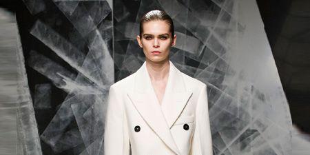 Clothing, Sleeve, Collar, Outerwear, Coat, Formal wear, Fashion show, Style, Fashion model, Blazer,