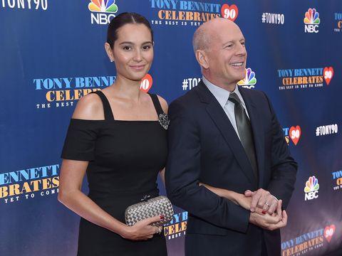 Smile, Dress, Coat, Suit, Logo, Tie, Electric blue, Award ceremony, Cocktail dress, Premiere,